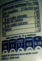 Mayonesa - Información nutricional - es