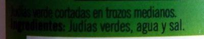 Judias Verdes Ybarra - Ingredientes