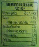 Judias Verdes Ybarra - Información nutricional