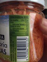 Zanahorias en tiras - Informations nutritionnelles - es