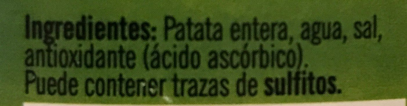 Patata Entera - Ingredients