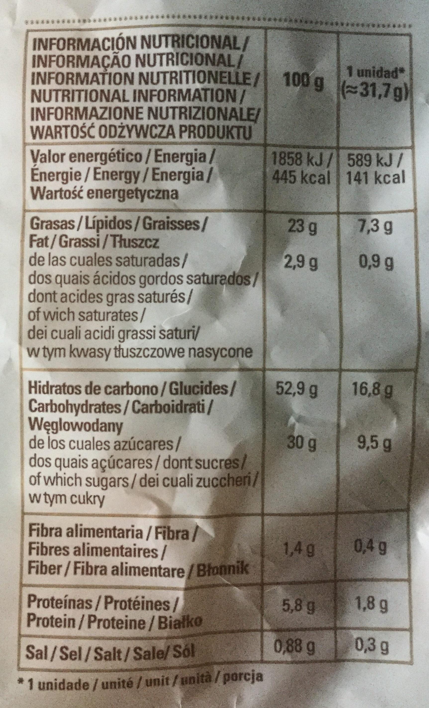 Glorias - Informations nutritionnelles