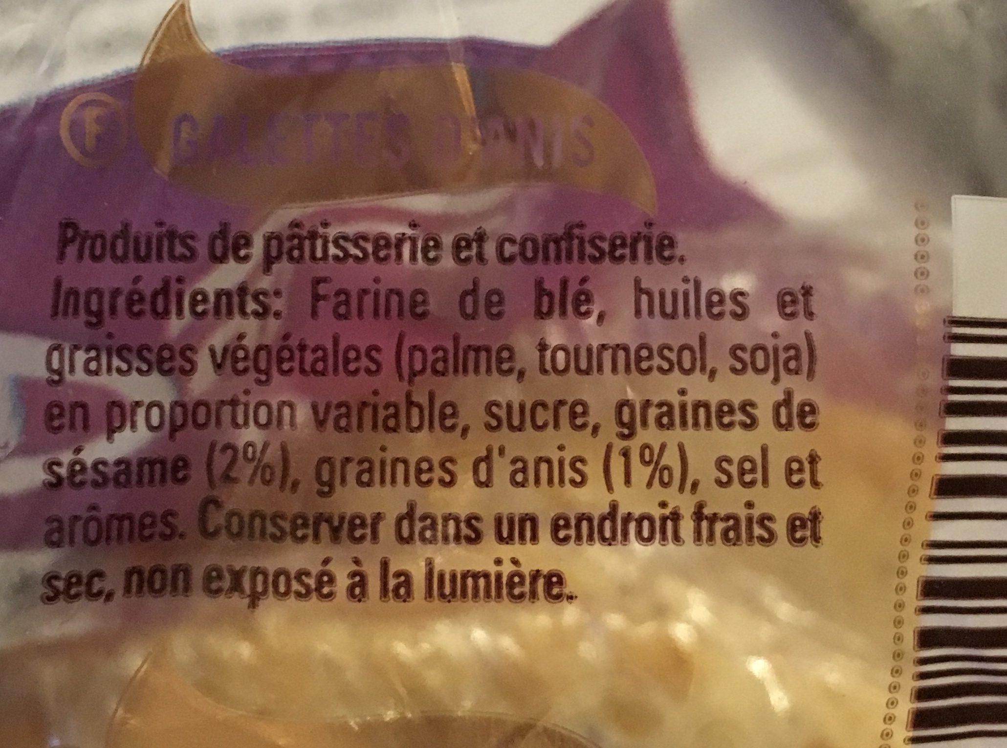 Dulcesol Tortas de Anis y Sesamo - Ingrédients - fr