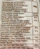 Rosegones con Almendras - Información nutricional - fr