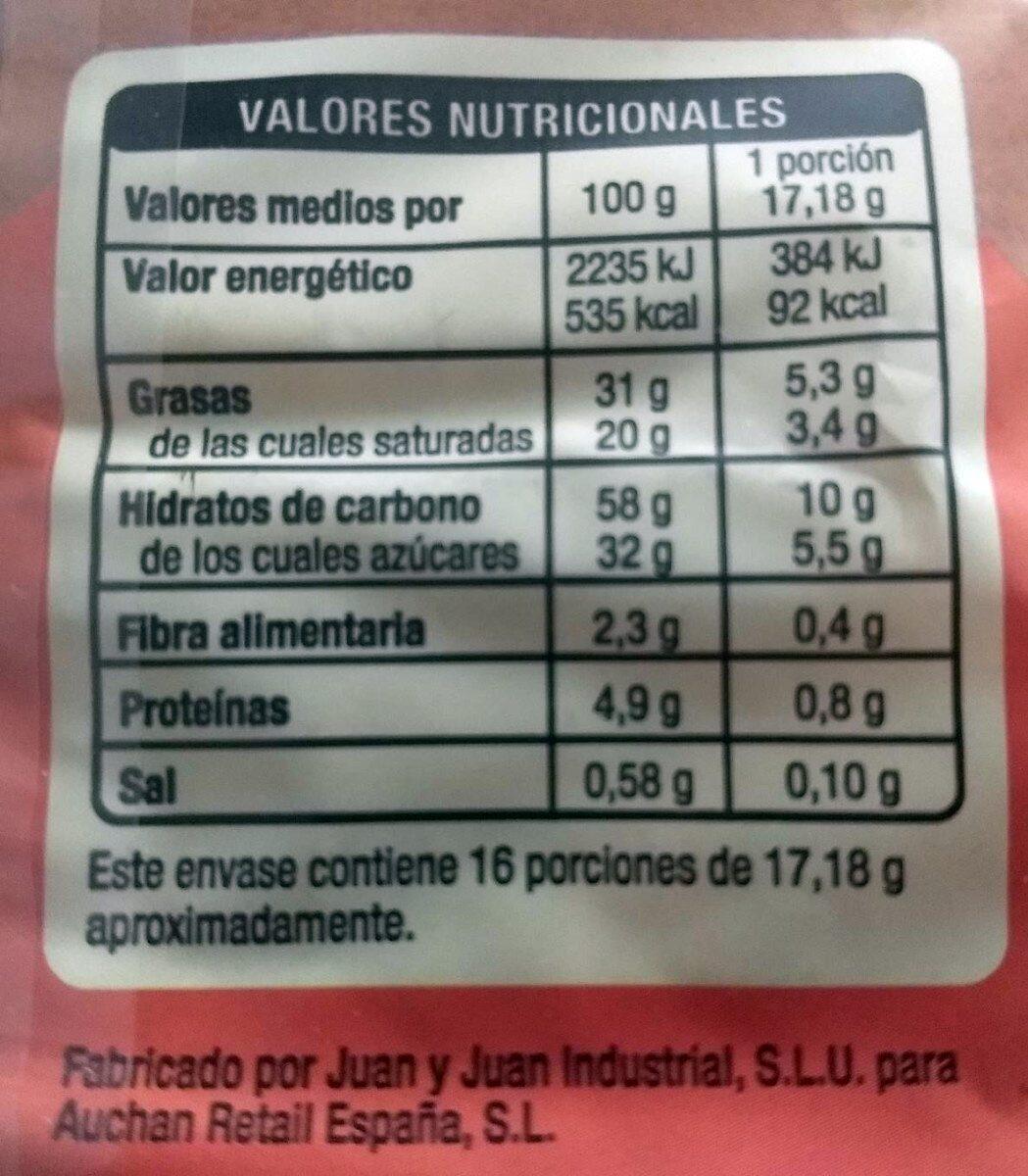 Palmeritas de cacao - Nutrition facts - es