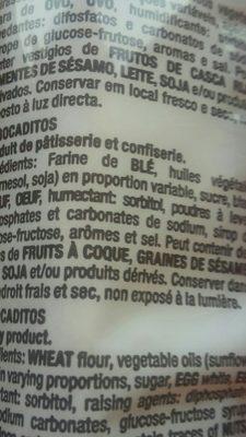 Bocaditos de bizcocho sin aceite de palma envasados de - Ingrédients - fr