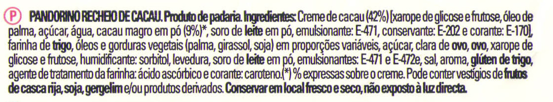 Pandorino Cacao - Ingredientes
