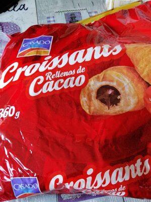 Croissants rellenos de cacao - Produit