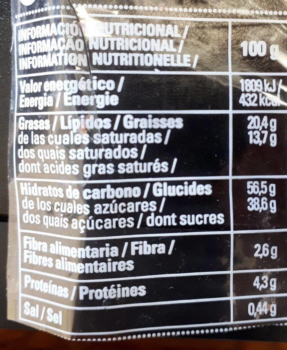 Cuadrado de trufa Dulcesol - Información nutricional - pt