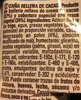 Caña exxtra cao - Ingredientes
