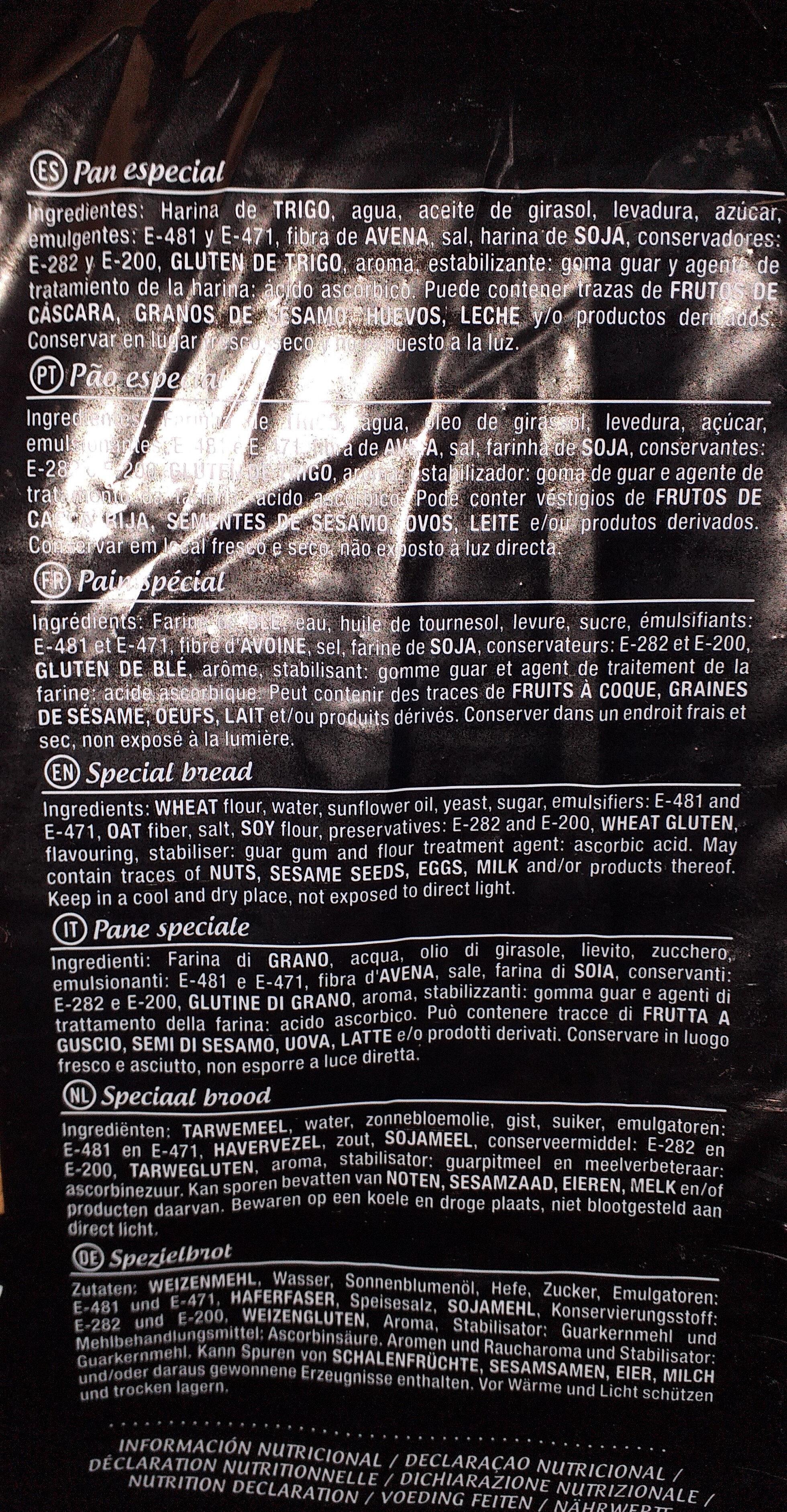 Pan de molde blanco - Ingrédients - es
