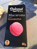 4 macarons framboise - Produit