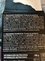 4 macarons framboise - Ingrédients