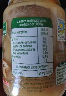 Merienda baby bio frutas - Voedingswaarden