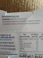 Atun en aceite de girasol - Ingredientes - es