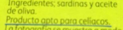 Sardinas En Aceite De Oliva - Ingredientes - fr