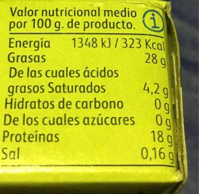 Sardinas En Aceite De Oliva - Informação nutricional - fr