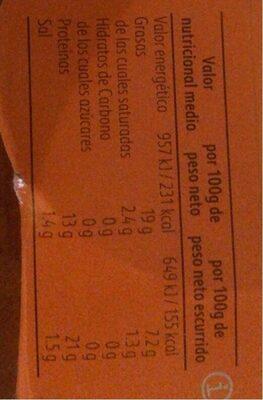 Mejillones Calvo En Escabeche (pack 4X80G) - Informations nutritionnelles - fr