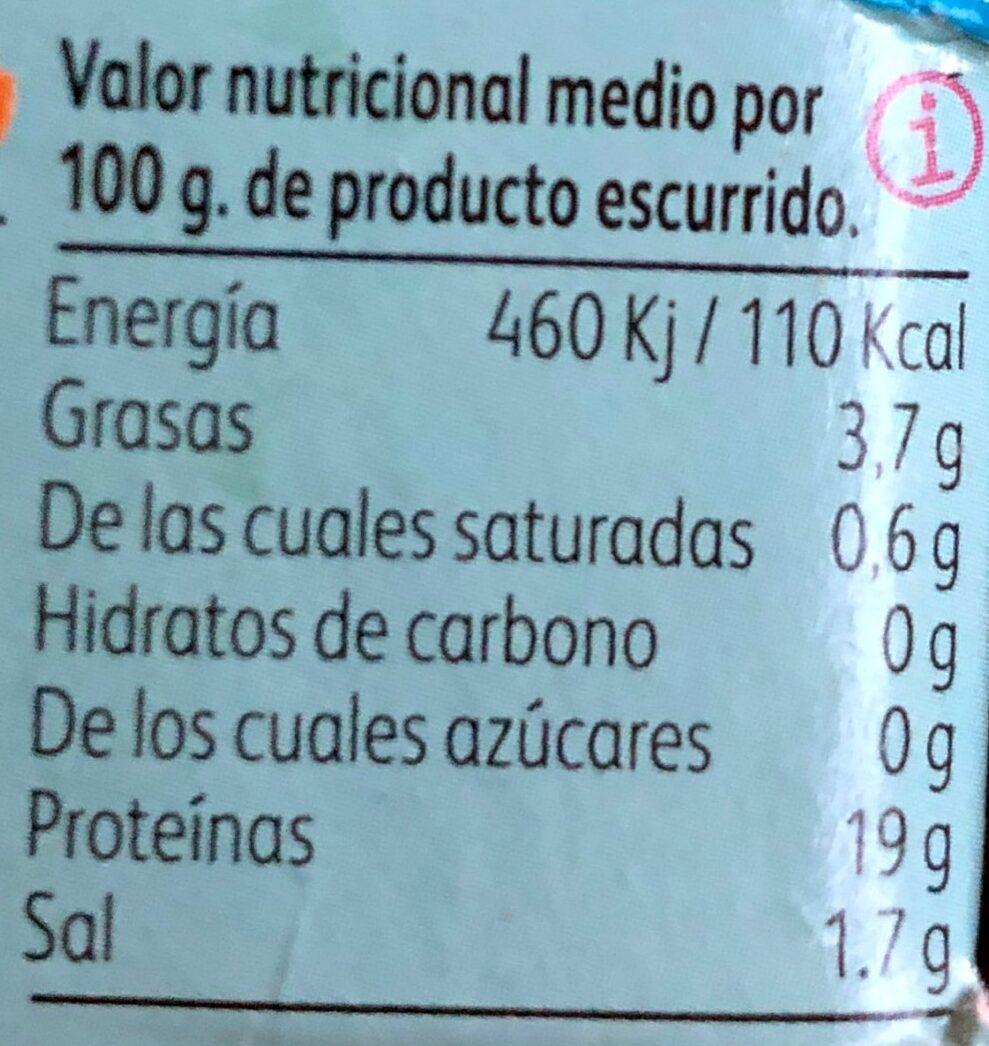 Mejillones al natural - Voedingswaarden - es
