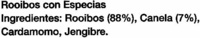 Rooibos con especias - Ingredientes - es