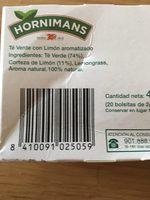 Té Verde Limón Hornimans - Product