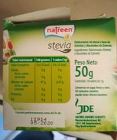 Endolcidor Natreen Stevia Sobres - Ingrediënten