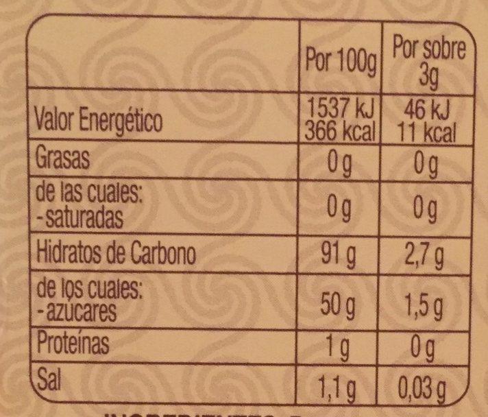 Té latte chai - Información nutricional - es