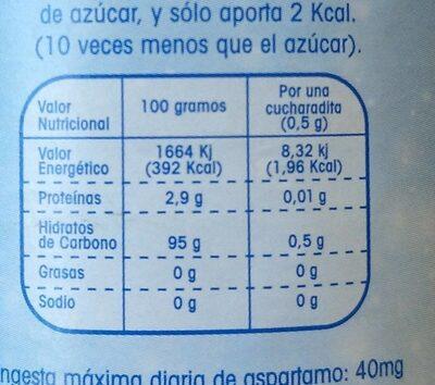 Natreen Granulado - Valori nutrizionali - fr