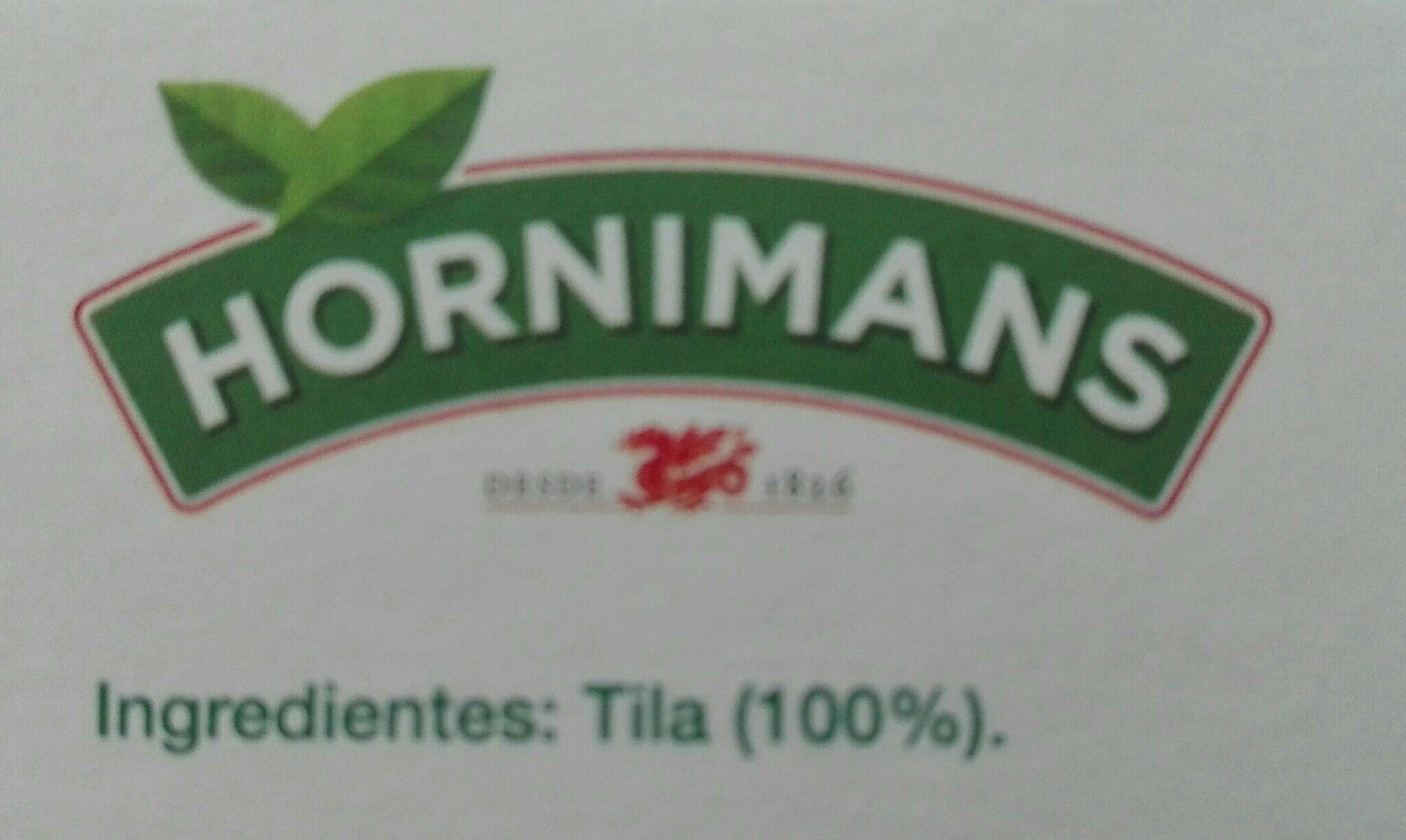 Tila estuche 25 bolsitas - Información nutricional