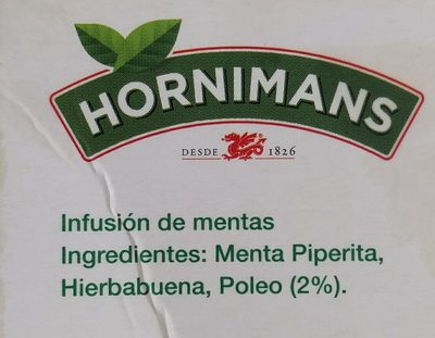 Poleo Menta Hornimans - Ingredientes