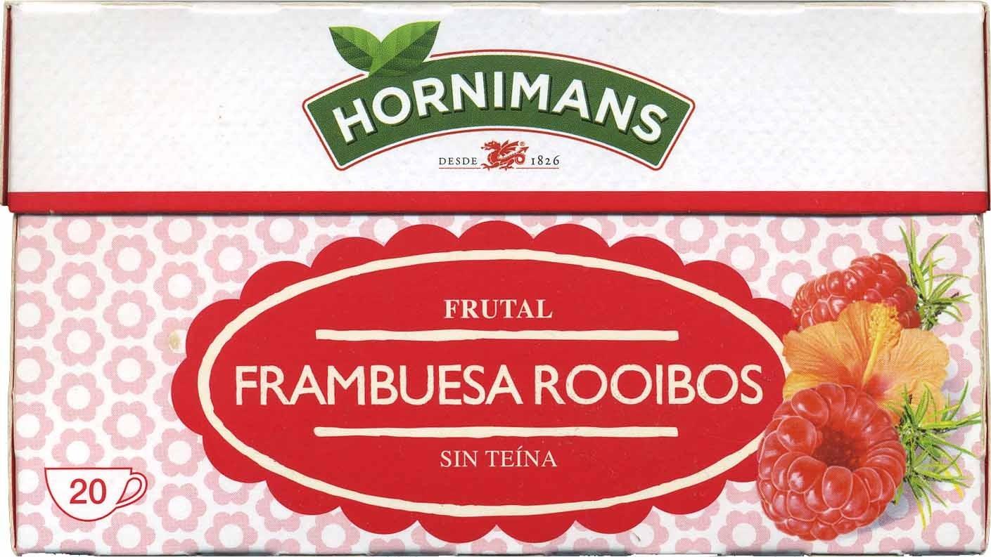 Infusión frutal frambuesa rooibos - Producto - es