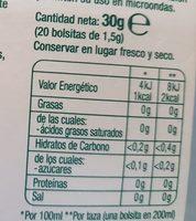 Hornimans - Bolsitas Té Verde, Guaraná Y Pina Me Funciona 20 X - Ingredients