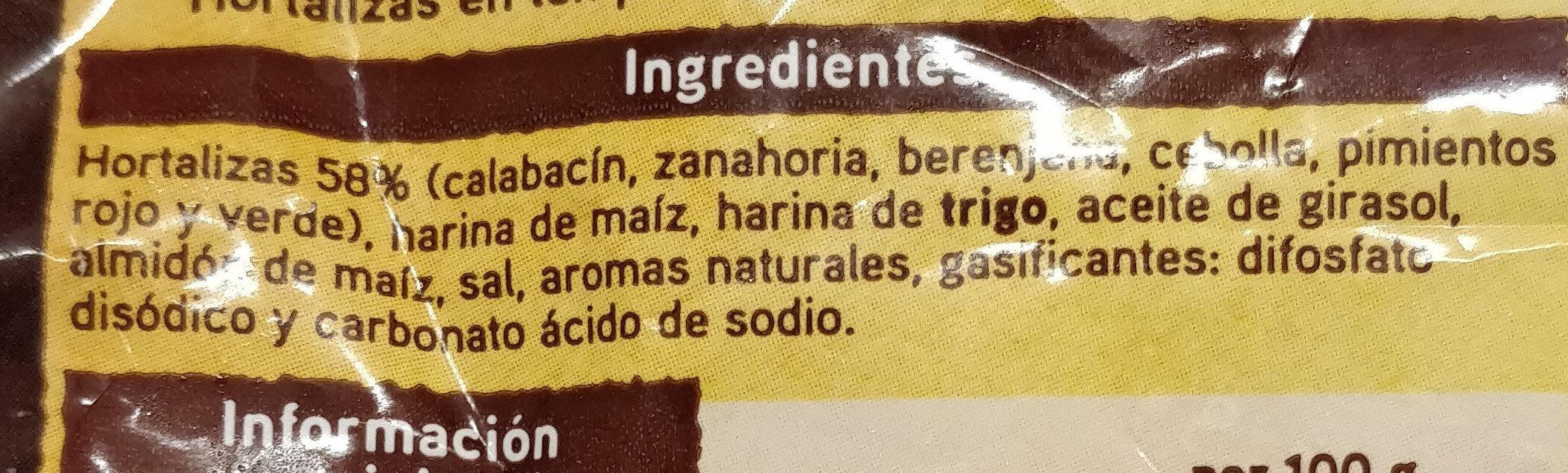 Tempura - Ingrédients - es