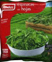 """Espinacas en hojas congeladas """"Findus"""" - Producte"""