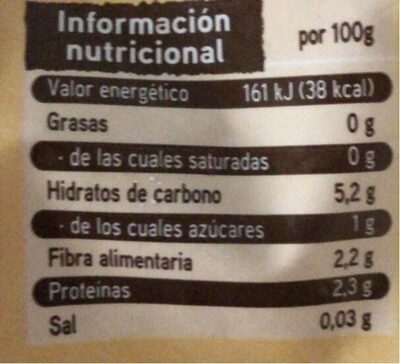 Selección de setas enteras - Nutrition facts - es