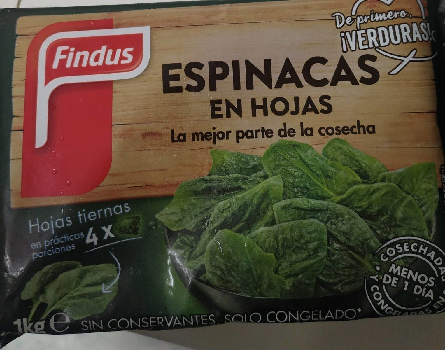 Espinacas en hojas - Produit - es