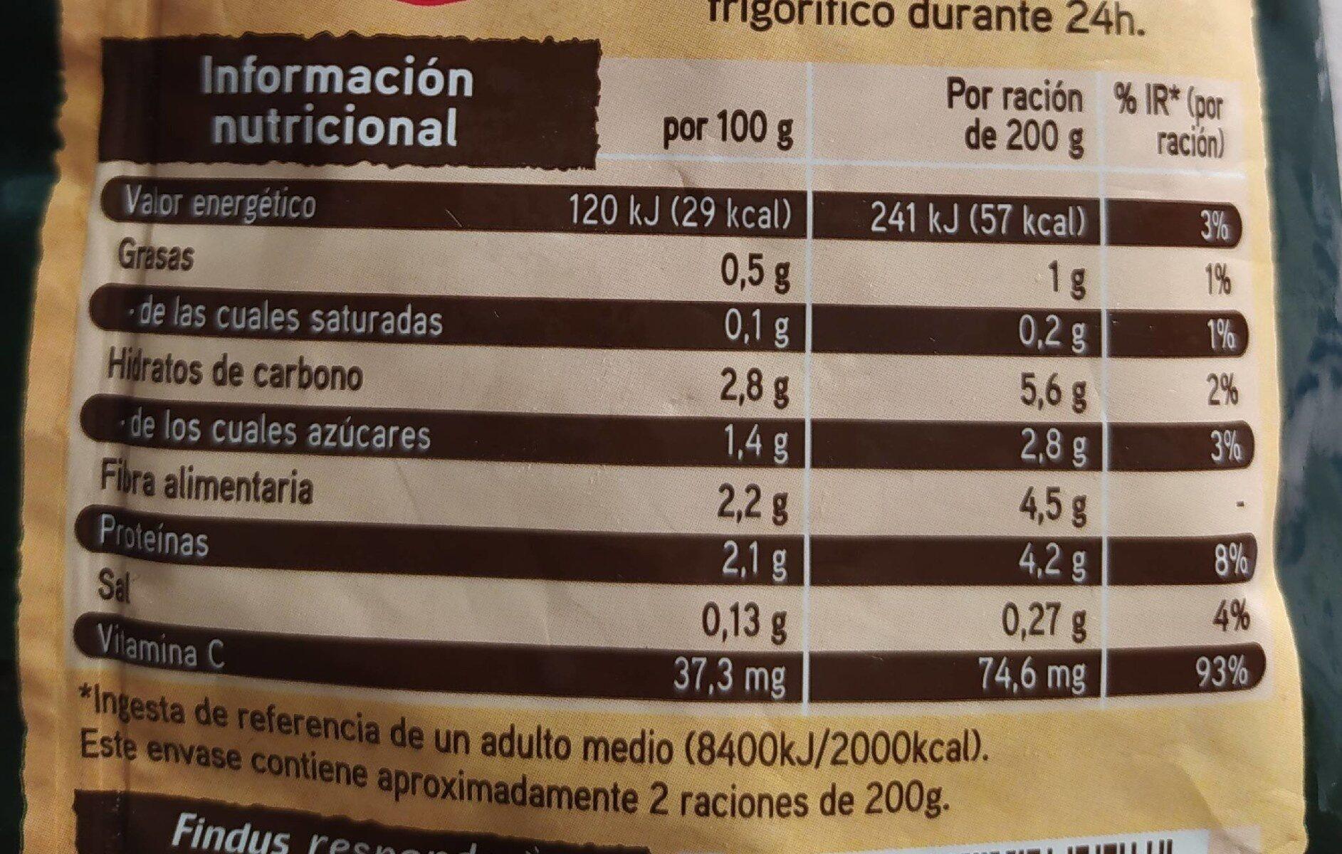Brocoli - Voedingswaarden - es
