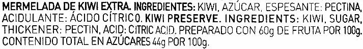 Mermelada de kiwi - Ingrédients - es