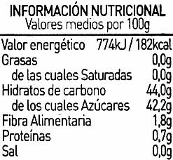 Mermelada de kiwi - Informations nutritionnelles - es