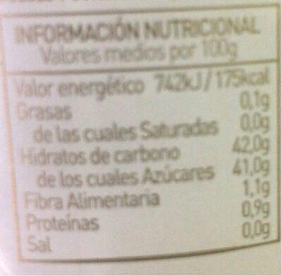 Mermelada de melocotón extra - Informations nutritionnelles - en