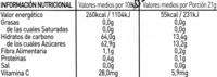 8 Pico's crema de fresa - Información nutricional - es