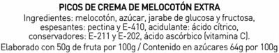 Picos de crema de melocotón - Ingredientes