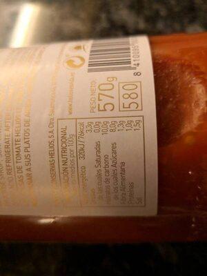 Salsa de tomate - Voedigswaarden