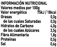 Zanahorias - Informació nutricional