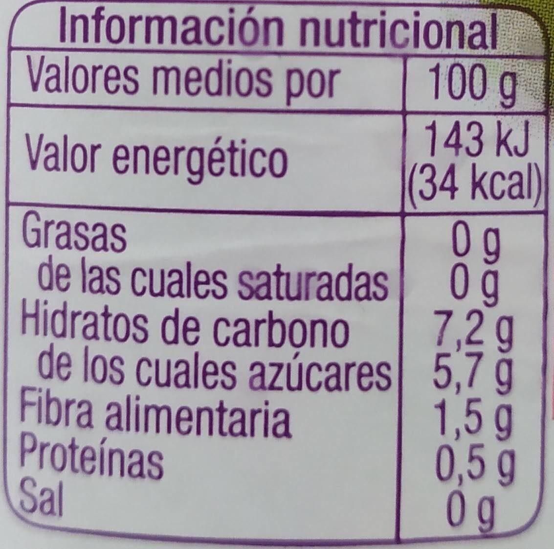 Mermelada Diet Ciruela - Informació nutricional - es