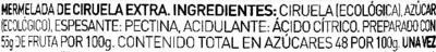 Mermelada de ciruela ecológica - Ingredients