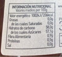 Mermelada de naranja amarga ecológica - Informació nutricional - es