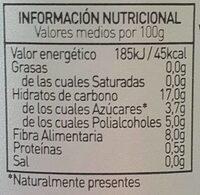 Mermelada Diet Arándano - Información nutricional - fr