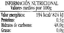 Mermelada de melocotón ecológica - Nutrition facts
