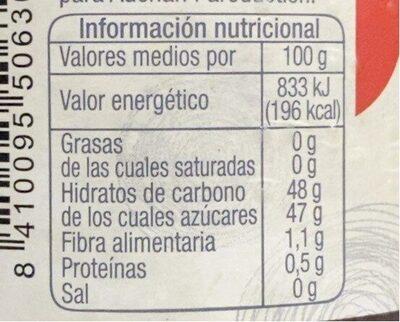Mermelada extra de fresa - Informação nutricional - fr